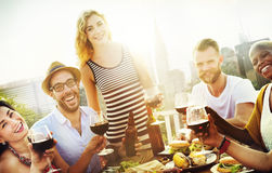 Friend Friendship Dining Celebration Hanging out Concept.  stock photo