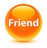 Friend glassy orange round button Royalty Free Stock Photo