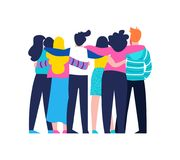 Free Friend Group Hug Of Diverse People Isolated Stock Photography - 123767462