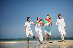 Friend Group Togetherness Beach Party People Concept.  royalty free stock photo