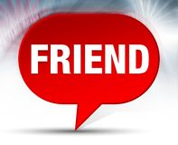 Friend Red Bubble Background stock illustration