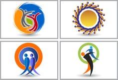 Friend logos vector illustration