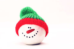 Friend one. Christmassy friend with red and green hat in white background Royalty Free Stock Image