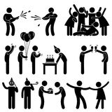 Friend Party Celebration Birthday stock illustration
