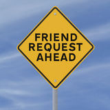 Friend Request Ahead Stock Images