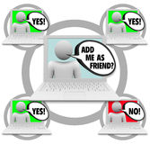 Friend Requests - Social Network Stock Image