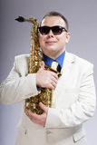 Friend saxophone Royalty Free Stock Images
