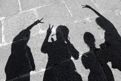 Friend shadow silhouette Stock Photos
