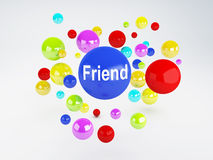 Friend sign. Social network  concept. Royalty Free Stock Photography
