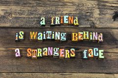 Free Friend Stranger Waiting Welcome Kind Typography Type Stock Photo - 139583990