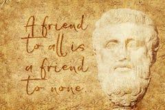 Friend to none Aristotle Royalty Free Stock Photo