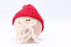 Friend two. Christmassy friend with red hat in white background Stock Image