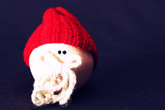 Friend two in grey. Christmassy friend whit red hat in grey background Stock Images