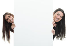 Friend white card Royalty Free Stock Images