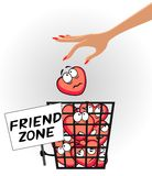 Friend zone Stock Photography