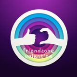 A Friend Zone sign from a hand`s gesture. Vector Illustration vector illustration