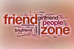 Friend zone word cloud with abstract background Stock Photography