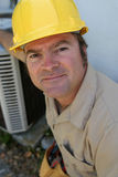 Friendly AC Repairman Royalty Free Stock Images