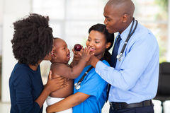 Friendly african pediatric Stock Photography