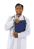 Friendly Afro-American doctor Royalty Free Stock Images