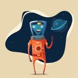 Friendly alien. Cartoon vector illustration vector illustration