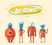 Free Friendly Aliens. Cartoon Illustration Royalty Free Stock Photos - 91352838