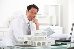 Friendly architect Stock Photography