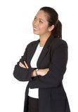 Friendly asian business woman looking up Stock Images