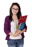 Friendly Asian teacher stock photo