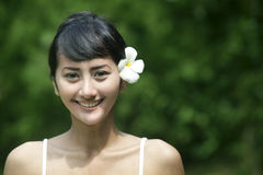 Friendly Asian Woman Smiling Royalty Free Stock Photos