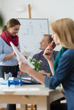 Friendly atmosphere in modern office Royalty Free Stock Photos