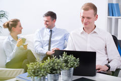 Friendly atmosphere at work Royalty Free Stock Images