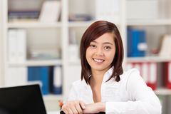Friendly attractive Asian busnesswoman Stock Photography