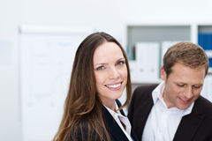 Friendly attractive businesswoman Stock Photography
