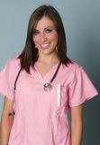 Friendly attractive nurse royalty free stock photography