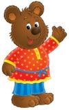 Friendly bear illustration Royalty Free Stock Photo