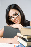 Friendly beautiful young student. Royalty Free Stock Photography