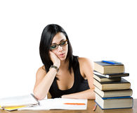 Friendly beautiful young student. Stock Photography