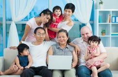 Friendly big family Stock Photos