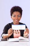 Friendly black office woman working Stock Photography