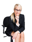 Friendly blond business woman. Stock Image