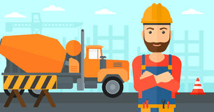 Friendly builder with arms crossed. Stock Photography