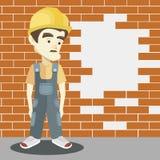 Friendly builder with helmet Stock Photos