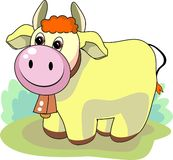 Friendly bull. Friendly looking yellow bull awaits its new year Stock Image