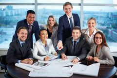 Friendly business group Royalty Free Stock Images