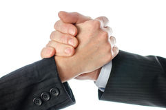Friendly business handshake Stock Image