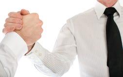 Friendly business handshake Stock Image