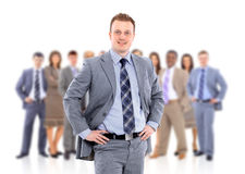 Friendly business man Stock Images