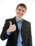 Friendly business man Royalty Free Stock Photos