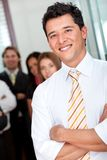 Friendly business man portrait Stock Image